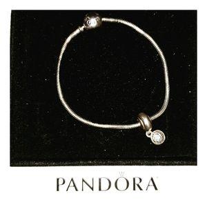 DISCONTINUED Pandora Essence + Pavè Dangle Charm